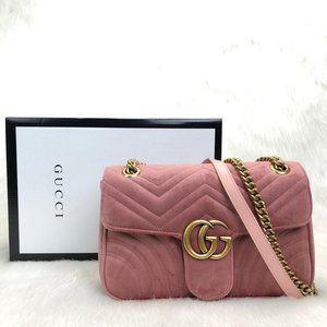 Pink Color Gucci Marmont Velvet